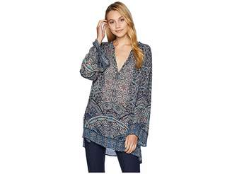 Angie Long Sleeve Printed Tunic Women's Clothing