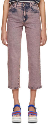 Stella McCartney Pink Washed Cropped Jeans