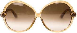 Tom Ford Beige Plastic Sunglasses