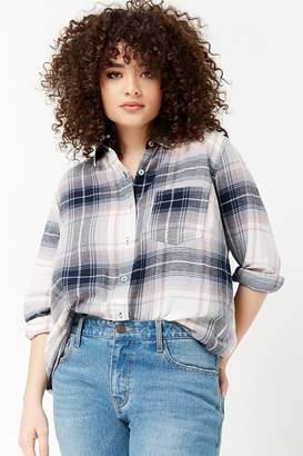 Forever 21 Plus Size Plaid Button-Front Shirt