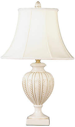 Contoured Feather Table Lamp - Cream - Bradburn Home