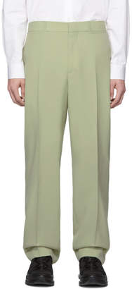 Burberry Green Wool Trousers