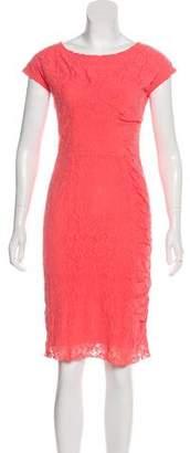 Nina Ricci Lace Ruched Dress
