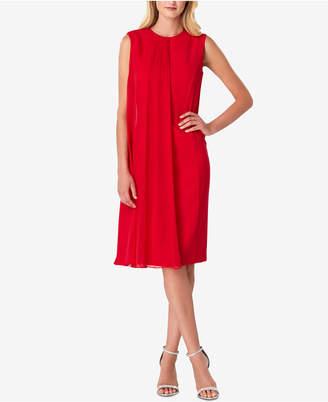 Tahari ASL Chiffon-Overlay Sheath Dress