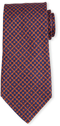 Stefano Ricci Neat Square-Dot Patterned Silk Tie $250 thestylecure.com