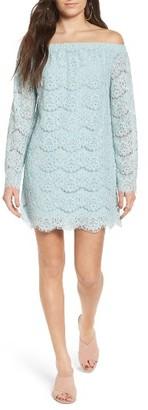 Women's Fire Off The Shoulder Lace Shift Dress $55 thestylecure.com