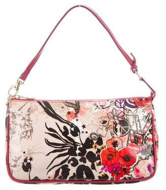 Jimmy Choo Floral Coated Canvas Handle Bag