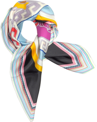 Versace Medusa Pop Twill Silk Square Scarf