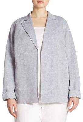 Lafayette 148 New York Plus Flora Linen Jacket
