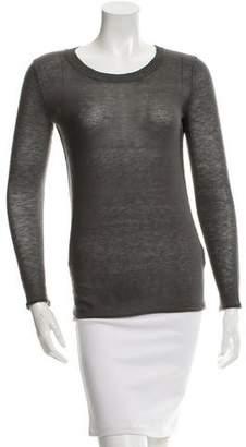 Brochu Walker Wool-Blend Scoop Neck Top