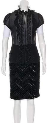 Andrew Gn Bead Embellished Skirt Set