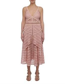 Thurley Juliette Dress Sleeve Less Lace Midi Dress