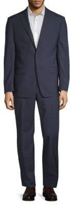 Michael Kors Slim-Fit Mini Grid Wool Suit