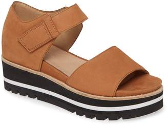 Eileen Fisher Luella Leather Platform Sandal