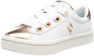 Skechers Girls' Hi Lite-Medal Toes Trainers, (White/Rose Gold Wtrg), 2 (35 EU)