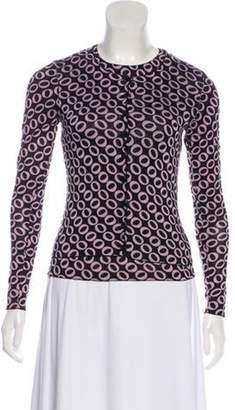 Diane von Furstenberg Printed Silk Cardigan Set Black Printed Silk Cardigan Set