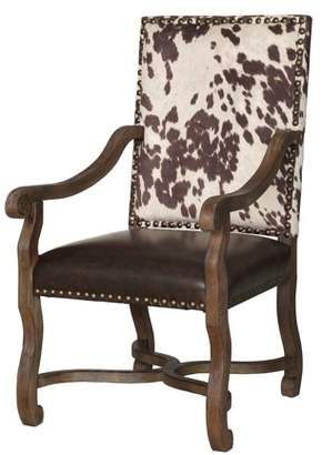 Crestview Collection Mesquite Ranch Leather and Faux Cowhide Armchair