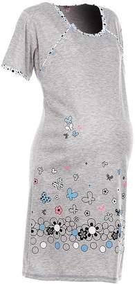 Happy Mama Boutique Happy Mama. Womens Maternity Nursing Breastfeeding Nightdress Shirt Gown. 140p (, US 12/14, 2XL)