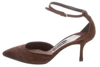 Tom Ford Suede Pointed-Toe Pumps