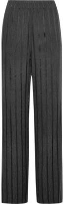 Alexander Wang Striped Woven Wide-leg Pants - Charcoal