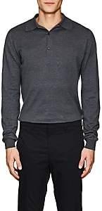 John Smedley Men's Bradwell Cotton Polo Shirt - Charcoal