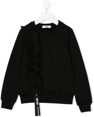MSGM Kids ruffled sweatshirt