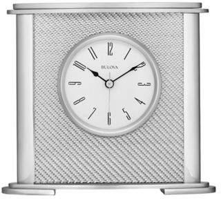 Hewitt Table Clock in Silver