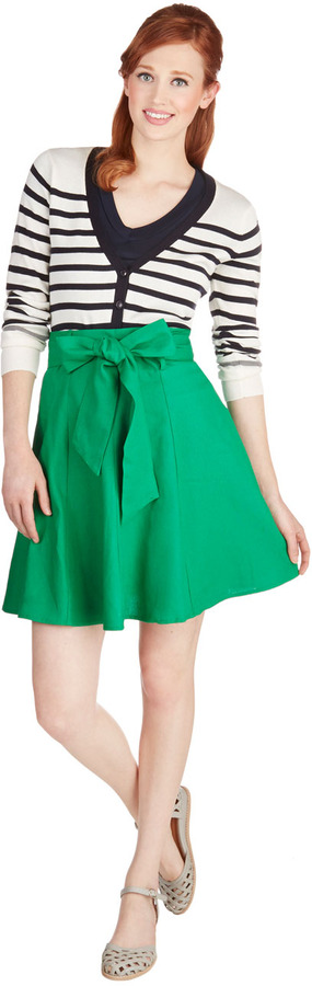 Matisse Musee Skirt in Green