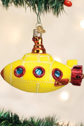 Old World Christmas Yellow Groovy Submarine