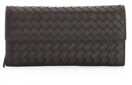 Bottega Veneta Fold-Over Leather Wallet