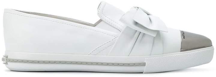 Miu Miu bow-embellished sneakers