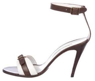 Manolo Blahnik Bi-Color Leather Sandals