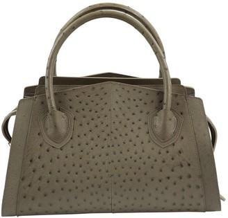 Jitrois Grey Ostrich Handbag