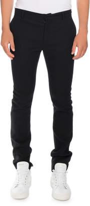 Balmain Slim Smoking Pants with Side Stripe, Black