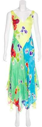 Ralph Lauren Purple Label Silk Floral Dress
