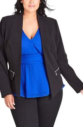 City Chic Elegance Fitted Jacket