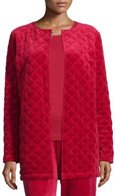 Joan Vass Quilted Velour Topper Jacket