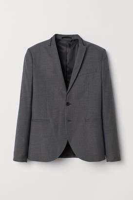 H&M Super Skinny Fit Blazer - Gray