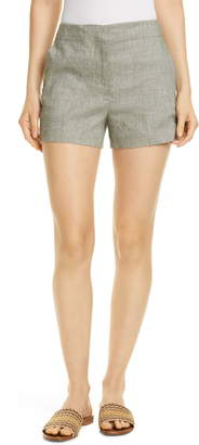 Theory Linen Blend Shorts