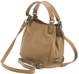 Jonnie Double Handle Leather Crossbody