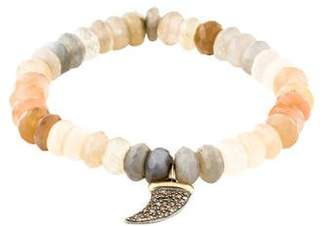 Sydney Evan 14K Moonstone & Diamond Horn Bead Bracelet
