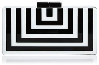 Aqua Stripe Geometric Clutch - 100% Exclusive