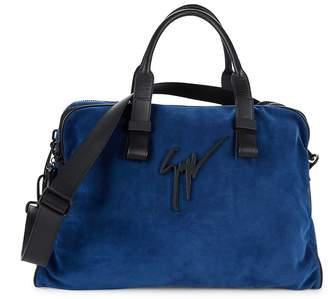 Giuseppe Zanotti Logo Suede Overnight Bag