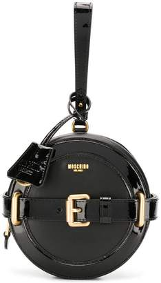 Moschino circular structured clutch bag