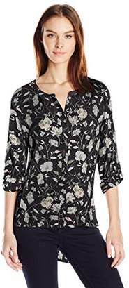 Nine West Women's Laurel Studded Hi-Lo Shirt