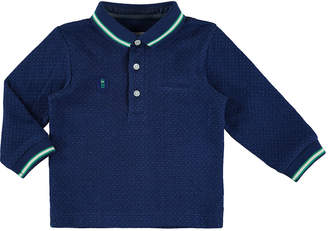 Mayoral Pin Dot-Print Polo Shirt, Navy, Size 6-36 Months