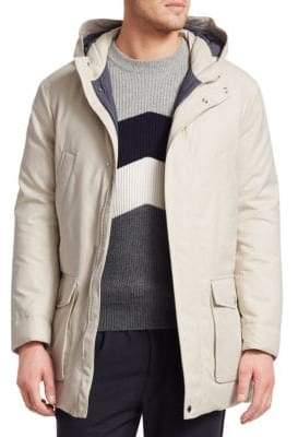 Brunello Cucinelli Long Chest Welt Pocket Parka