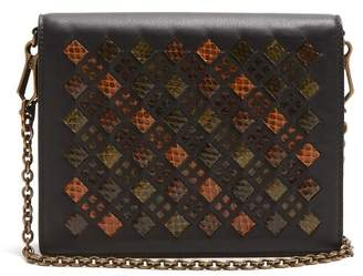 Bottega Veneta Intrecciato Leather Clutch - Womens - Black Multi