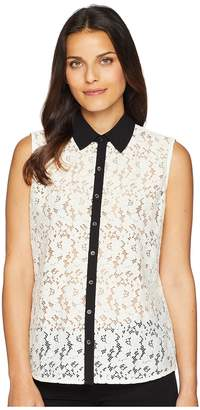 Tommy Hilfiger Sleeveless Lace Pullover Top Women's Sleeveless