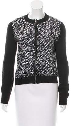 Christian Dior Long Sleeve Zip-Up Sweater